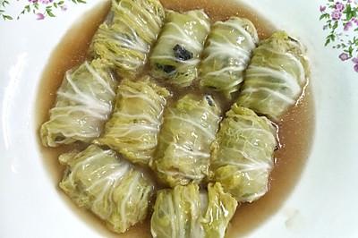 鲜肉白菜卷