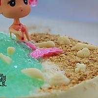 夏日最旺的人气沙滩---海洋慕斯蛋糕的做法图解15