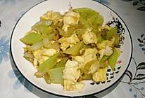 芹菜榨菜炒鸡蛋的做法