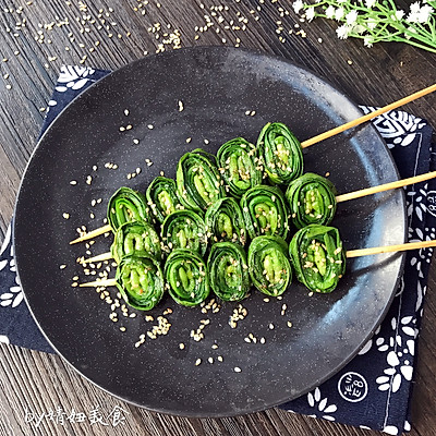 芝香烤韭菜~在家也能做出烧烤的味道