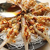 蒜末粉丝蒸虾的做法图解8