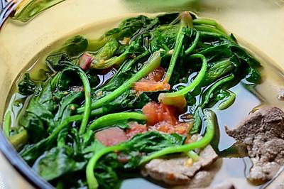【猪肝菠菜汤】