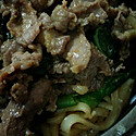 牛肉芥蓝炒果条