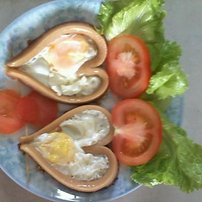 爱心火腿肠煎鸡蛋