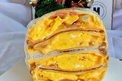 鲜美嫩滑蟹棒滑蛋芝士三明治
