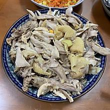 家常菜盐焗手撕鸡沙姜鸡