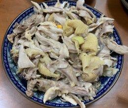 家常菜盐焗手撕鸡沙姜鸡的做法