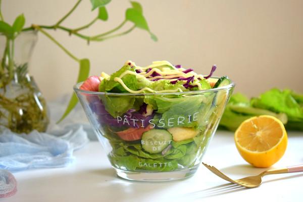 轻脂减肥果蔬沙拉的做法