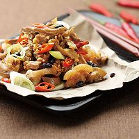 豆豉香爆京葱羊肉