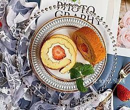 #今天吃什么#好吃又好看的草莓奶油蛋糕卷的做法