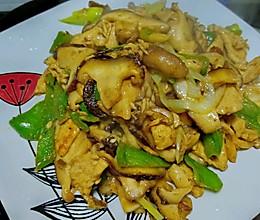 鲜香菇鸡胸肉片的做法