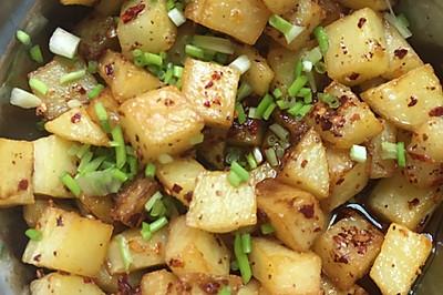 辣椒面土豆粒