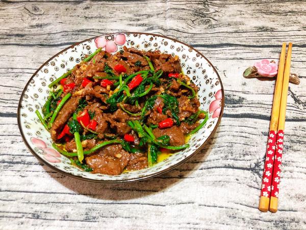 小炒香菜牛肉的做法