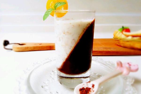 可可果冻燕麦——甜蜜双色的做法