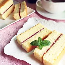 蓝莓酱棉花蛋糕#豆果5周年#