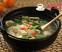 豆腐豆苗肉片汤#舌尖上的春宴#的做法