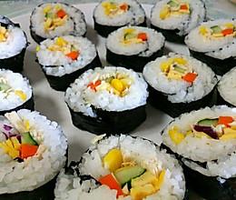 鸡肉蔬菜寿司的做法