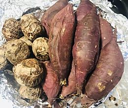 烤个白薯和芋头鸭(烤箱版)的做法