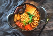 #洗手作羹汤#暖暖的—韩式部队锅的做法