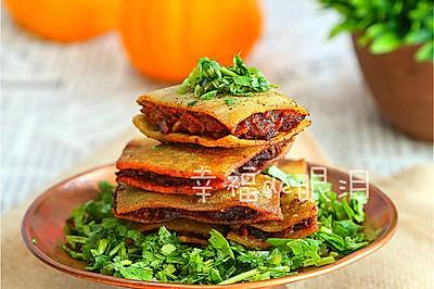 北京通州最具年味代表性的小吃:[咯吱盒]