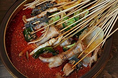 四川传统小吃钵钵鸡