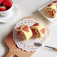 心型草莓蛋糕卷