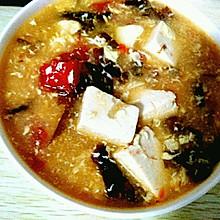 西红柿豆腐紫菜蛋花汤