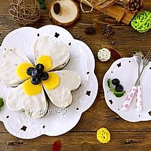 能带来好运的--四叶草蓝莓慕斯蛋糕#豆果5周年#