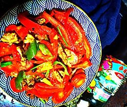 #李锦记旧庄蚝油鲜蚝鲜煮#蚝油炒番茄肉片的做法