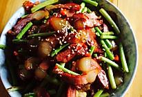 蒜苔腊肉的做法