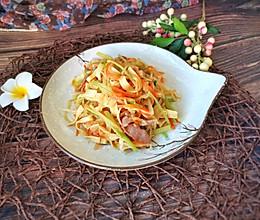 #餐桌上的春日限定#炒蔬菜丝的做法