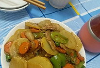 孜然土豆片炒肉的做法