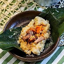 猪排咸蛋黄粽子和蜜枣碱水粽