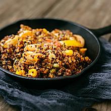 年后减肥第一餐:虾仁蔬菜藜麦饭