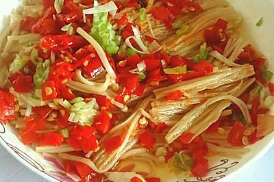清蒸剁椒金针菇
