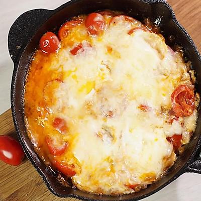 快手早餐,能拉丝的番茄焗蛋
