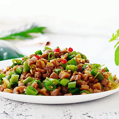 小炒牛肉粒—下饭菜