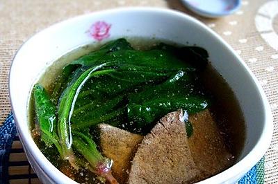灰灰的菠菜猪肝汤
