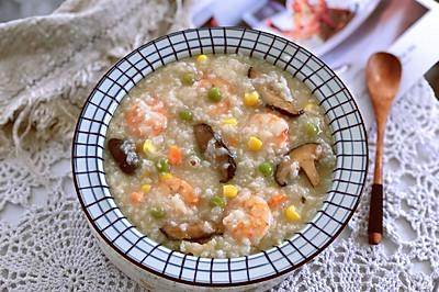 冬季低脂养生粥~时蔬海鲜粥