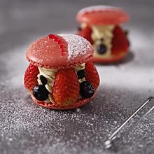 草莓开心果马卡龙