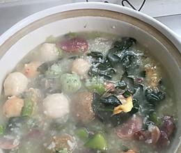 菜粥的做法