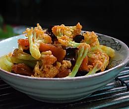 番茄木耳炒菜花#樱花味道#的做法