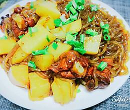 鸡腿炖粉条土豆的做法