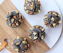#元宵节美食大赏#黑芝麻汤圆马芬蛋糕 | 香甜软糯的做法
