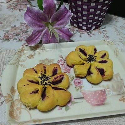 紫薯馅南瓜面包的做法 步骤13