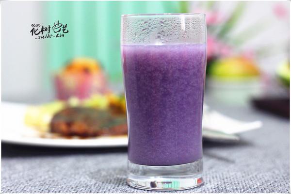 简单几步美味米浆——紫薯米浆的做法