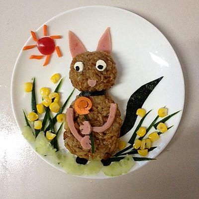 宝宝食谱:小松鼠土豆香菇鸡腿闷饭~