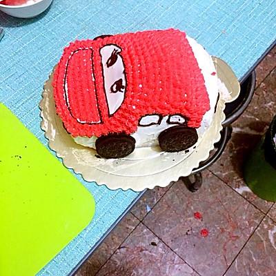汽车蛋糕的做法 步骤7