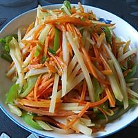 土豆丝炒胡萝卜丝的做法图解9