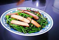 鸡蛋香干炒韭菜花的做法
